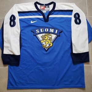 Finland Suomi Nike On-Ice Authentic Selanne Jersey